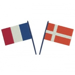 drapeaux français et danois