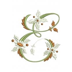 E  Alphabet Fleurs