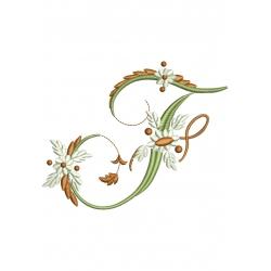 F Alphabet Fleurs