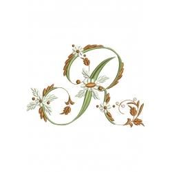 R  Alphabet Fleurs