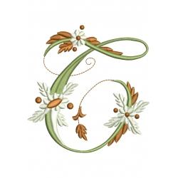 T  Alphabet Fleurs