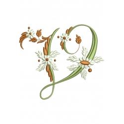 V alphabets fleurs