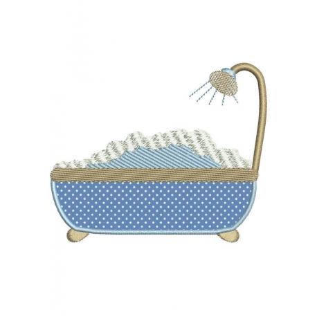 motif broderie machine baignoire en appliqu serviettes bain - Applique De Salle De Bain Globe