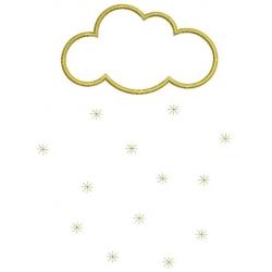 Nuage et ses étoiles dorées