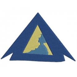 Scout sous la tente motif broderie machine