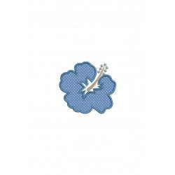 fleur hibiscus  en appliqué