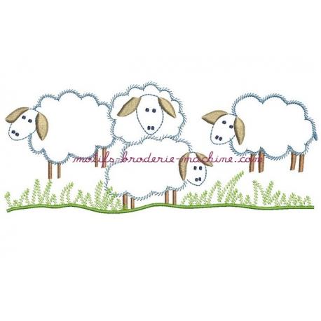 Petis moutons point de tige