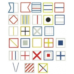 Alphabet Maritime en appliqué
