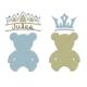 Nounours et ses 2 couronnes