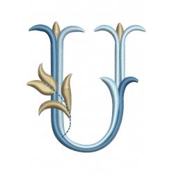 M alphabet Tulipe