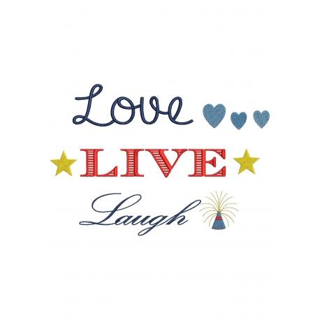 Phrase Love Live Laugh