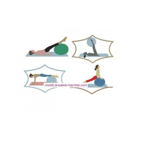 Gymnastique 4 motifs