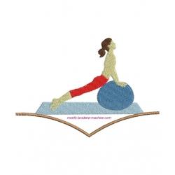 Gymnastique sur le ventre 2 motifs