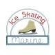patin à glace et appliqué broderie machine