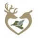 Coeur biche et cerf