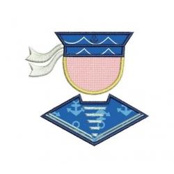 petit marin stylisé broderie appliqué