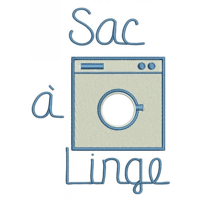 motif broderie machine sac linte lave linge machine laver 2 tailles. Black Bedroom Furniture Sets. Home Design Ideas