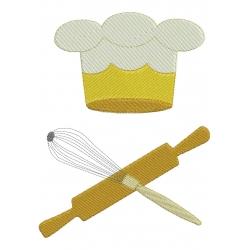 Cuisine Petit nécessaire à pâtisserie motif broderie machine