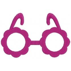motif broderie machine lunettes de soleil