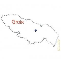 Carte de l'île  de Groix