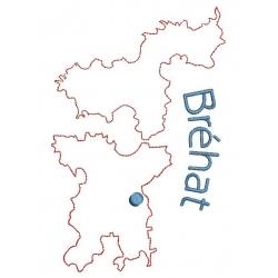 carte de l'île de Bréhat