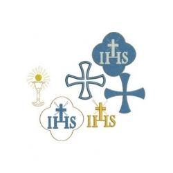 7 motifs broderie machine ornements religieux sac de messe communion baptême