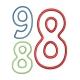 immatriculation Nouvelle Caledonie 988 motif broderie machine