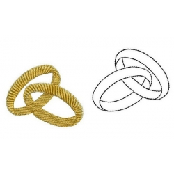 Alliances motif broderie machine - rings embroidery designs
