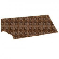 Tablette de chocolat et carrés en relief motif broderie machine