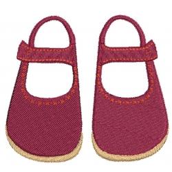 Chaussures enfant à brides motif broderie machine