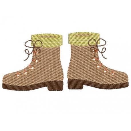 motif broderie machine chaussures de rando