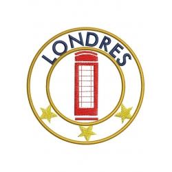Ecusson ville de Londres et sa cabine téléphonique