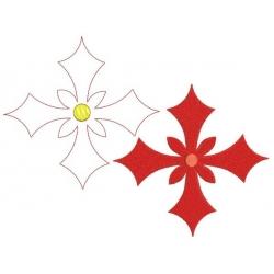 Croix de chevalier  broderie plein motif broderie machine