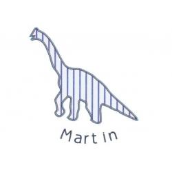 Motif broderie machine dinosaure géant