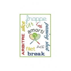 Phrases spécial tennis pour cadre 13x18