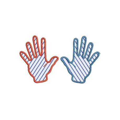 Mains en appliqué