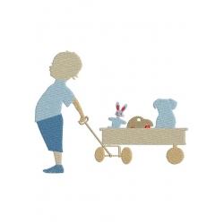 Enfant et son chariot