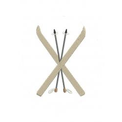 Motifs skis en petit modèle