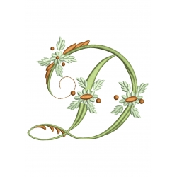 D Alphabet Fleurs