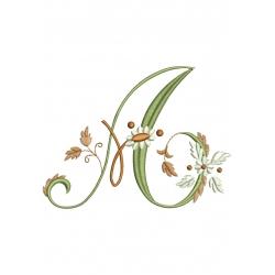 A Alphabet Fleurs
