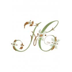 H Alphabet Fleurs