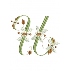 U Alphabet Fleurs