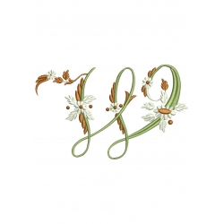 W Alphabet Fleurs