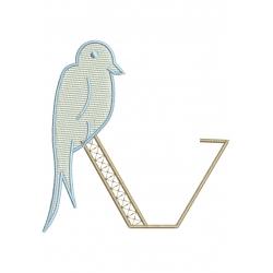 V Alphabet Hirondelle