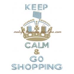 Keep calm et couronne de sacs