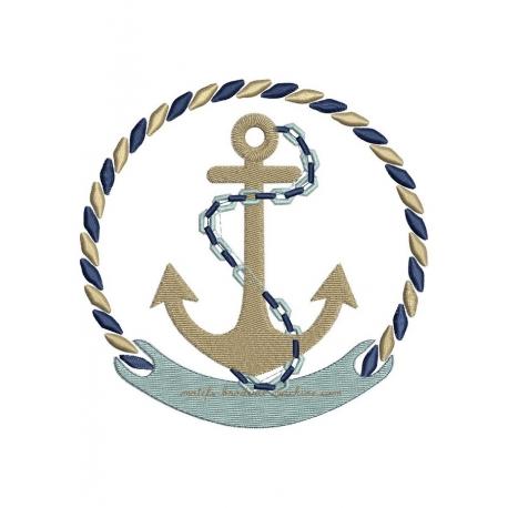 ancre marine et encadrement cordage