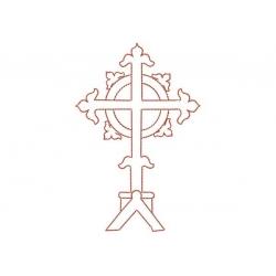 Motif broderie machine croix celtique en redwork