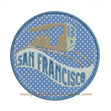 Tramway  SAN FRANCISCO appliqué