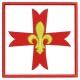 Croix scout Scouts d'Europe motif broderie machine
