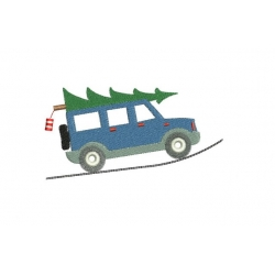 Voiture et sapin